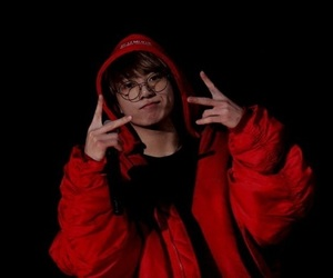 jungkook, bts, and red image
