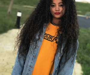 curls, curly hair, and fun image