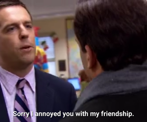 funny, tv show, and andy bernard image
