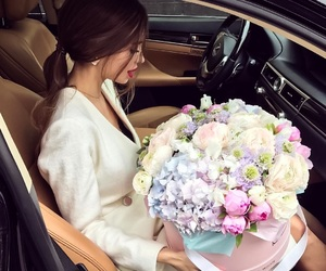 flowers, girl, and luxury image