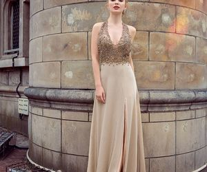 evening dress, halter, and sexy dress image
