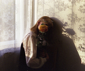 girl, aesthetic, and floral image