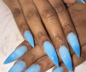 blue, nails, and ombre image