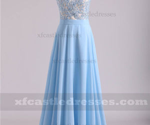 long blue prom dresses, blue lace prom dresses, and long prom dresses a line image