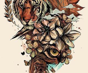art, flowers, and tattoo idea image