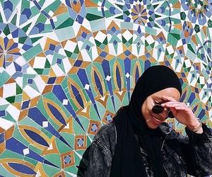 art, hijab, and morocco image