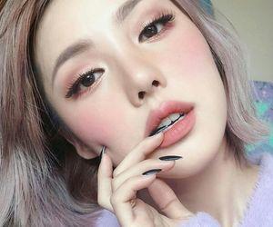 makeup, pony, and asian image