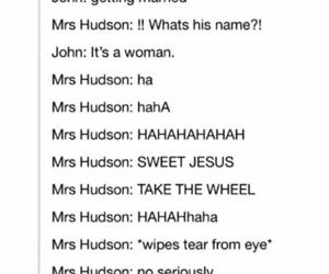mrs hudson, sherlock bbc, and johnlock image