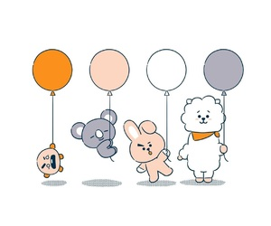 bt21, cooky, and rj image