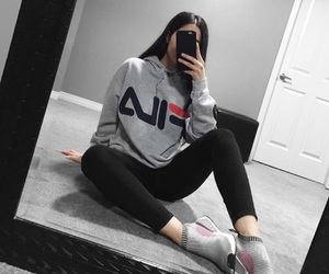 Fila, girl, and fashion image