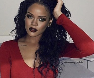 rihanna, red, and singer image