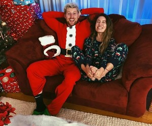 christmas, couple, and famous image