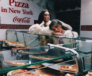pizza, madison beer, and model image