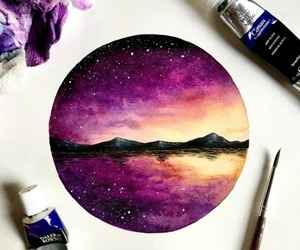 art, painting, and purple image