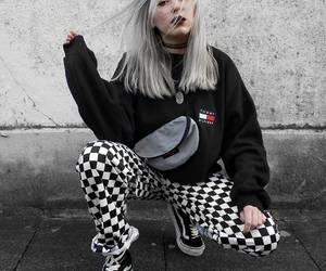 checkerboard, fashion, and indie image