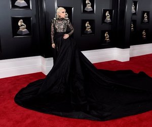 dress, Lady gaga, and red carpet image