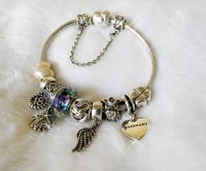 bracelet, charms, and fashion image