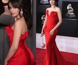 camila cabello, dress, and red image