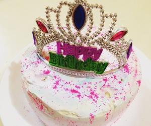 birthday, cake, and tiara image