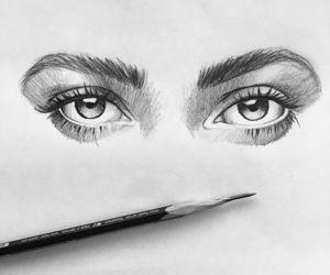 art, eye, and illustration image