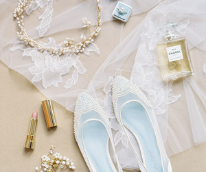 bridal, wedding shoes, and shoes image