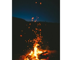 bonfire, night, and fire image