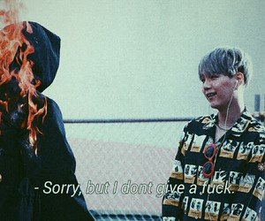 bts, suga, and fire image
