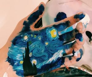 art, hand, and van gogh image