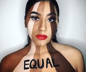equality, equal, and makeup image
