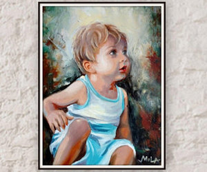 etsy, painting from photo, and custom portrait image