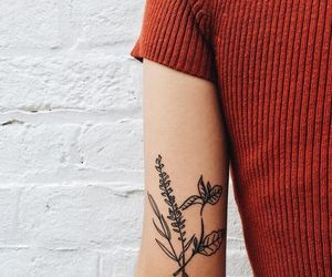 tattoo, flowers, and style image