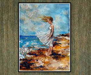 contemporary art, etsy, and Oil Painting image