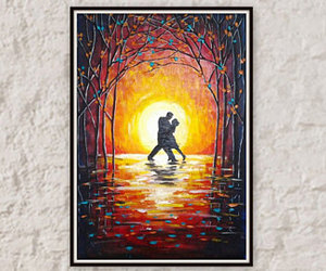 etsy, red painting, and valentines day gift image