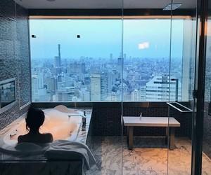 bath, bubble, and bathroom image