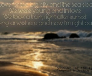 sea, summer, and songtext image
