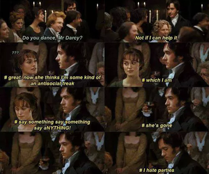books, darcy, and lizzy bennet image