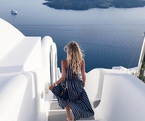 sea, travel, and Greece image