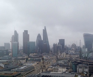 city, cloudy, and london image