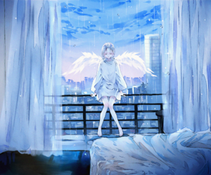 angel, anime, and anime girl image