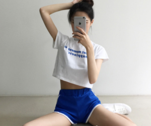 asian, blue, and style image