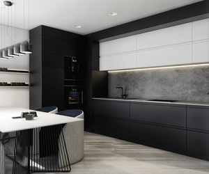black, interior, and luxury image