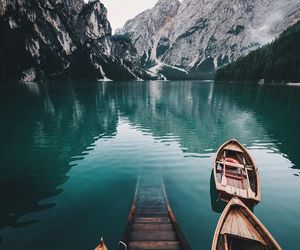 mountains, lake, and travel image
