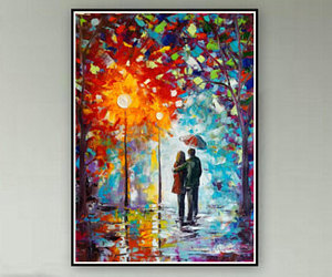 etsy, modern painting, and valentines day image