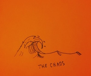 orange, chaos, and waves image