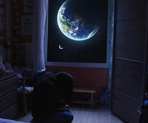 earth, sadness, and space image