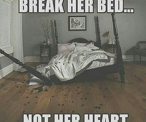 bed, heartbreak, and quote image