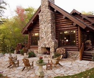 home, house, and cabin image