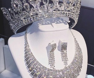 crown, diamonds, and necklace image