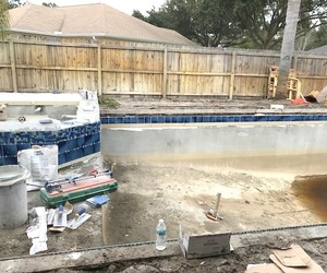swimming pools, pool construction, and palm coast image