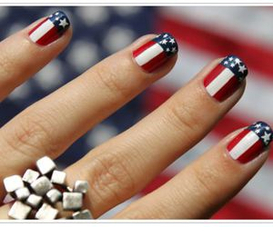 nails, usa, and blue image